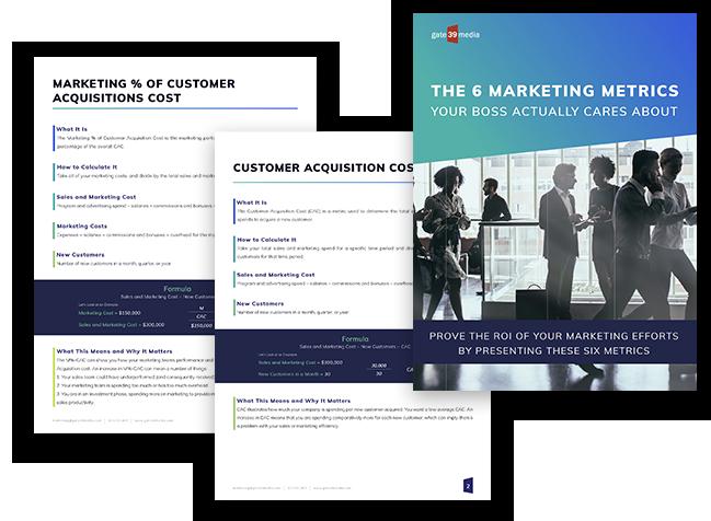 6 Marketing Metrics Landing