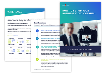 How to Set Up Your Business Video Channel: A Guide for Financial Firms