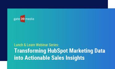 Transforming HubSpot Marketing Data into Actionable Sales Insights
